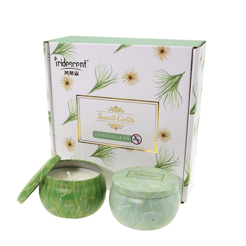 Citronella Oil Soy Wax 4 Pack Gift Set Tin Candles for Home