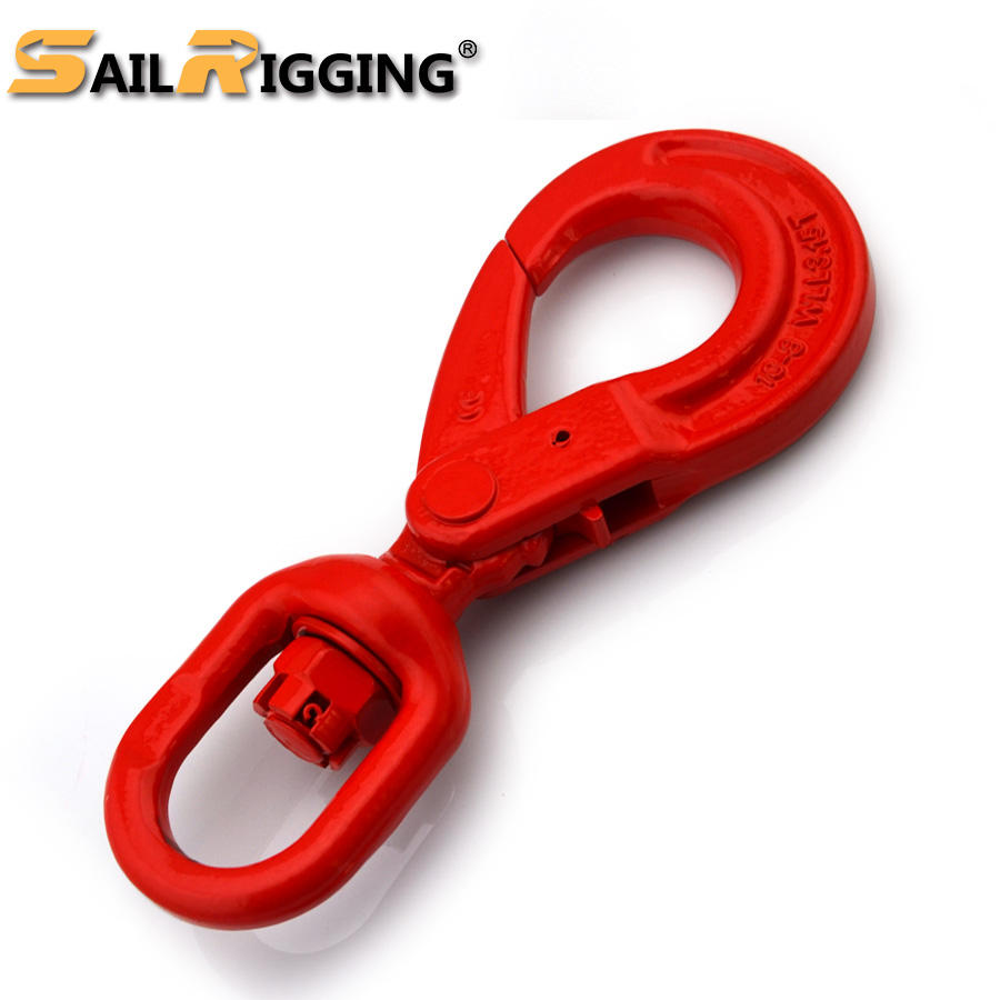 G80 Safety 합금 강 European 형 Self-locking Self Locking Swivel 훅