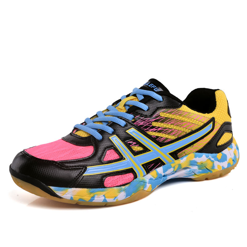 Colorful Adult Running Shoes Indoor Gym Cross Training Sneakers Breathable Volleyball Badminton Tennis Shoes
