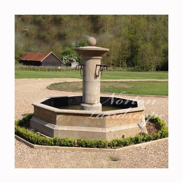 Outdoor Garden Decoration Large Antique French Style Granite Marble Water Fountain For Sale
