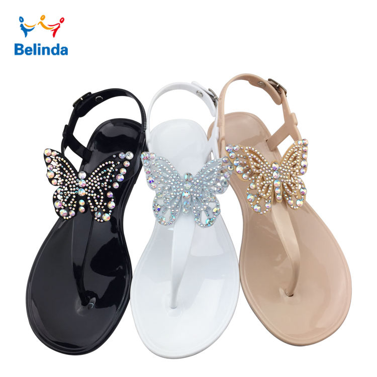 Summer Fashion Women Flat Shoes Latest Simple Butterfly Lady Sandal