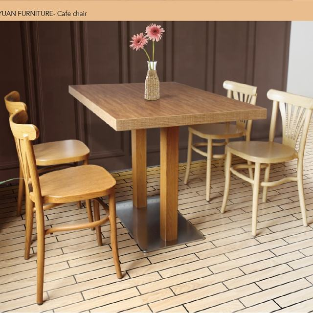Wood grain dining table set 4 chairs modern melamine table top dining table set