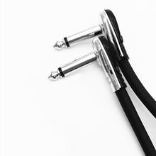 Guitar Patch Cables Right Angle, 6 inch ,15 cm 1/4 6.35mm TS  Effect Pedals Instrument Cables