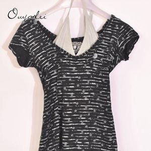 False two piece sweet short-sleeve t-shirt stock lot garments