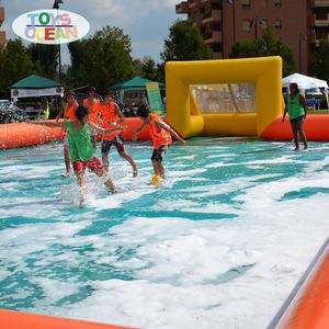 Inflatable Soap Sport Area Water Soccer Football Field For Sale