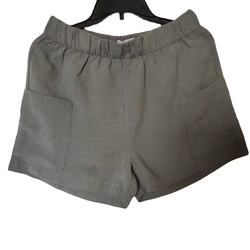 Linen solid casual women's shorts