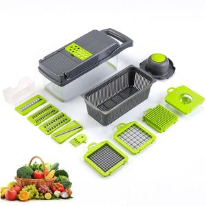 12 in 1 hand operated vegetable mandoline slicer vegetable cutter food dicer shredder with strainer and egg separator