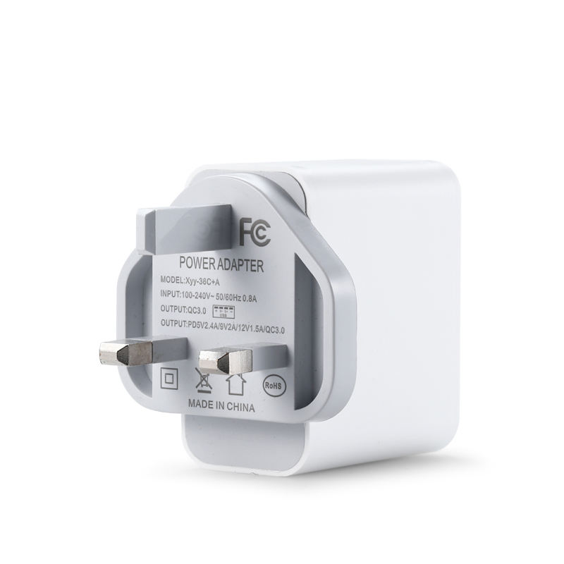 Quick Charge 3.0 USB Wall Charger Dual Ports PD 5V2.4A 9A 2A 12V 1.5A UK Wall Charger
