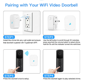 Smart Door Bells Home Security Bell 1080P Camera Wireless Wifi support APP Remote Control