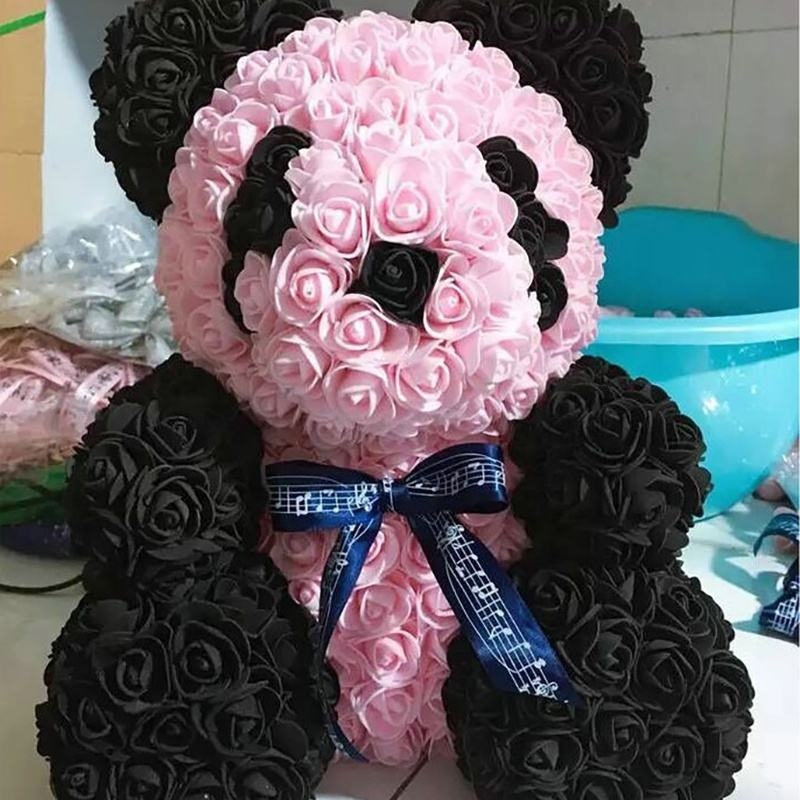 YC01-1 Rose Bear Wedding Decoration Decorative Flowers For Valentines Day Artifical Flowers