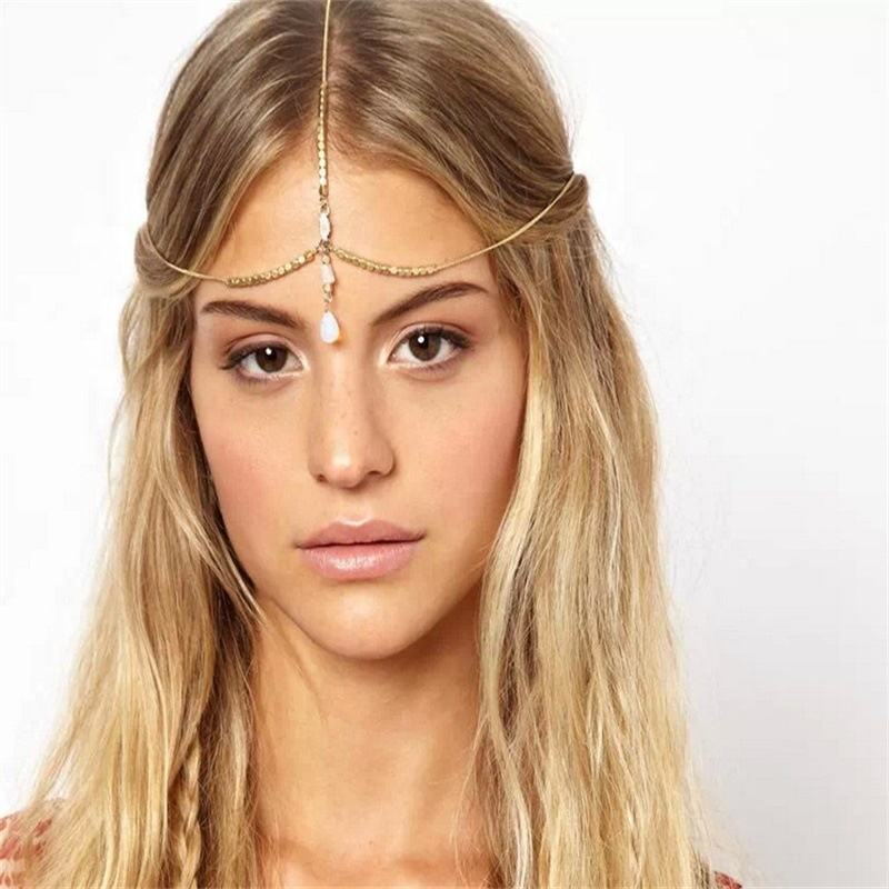 Genya New Arrived Fashion Natural Shell Chain Bohemian Style Fringed Hair with Head Chain Jewellery Hair Accessories