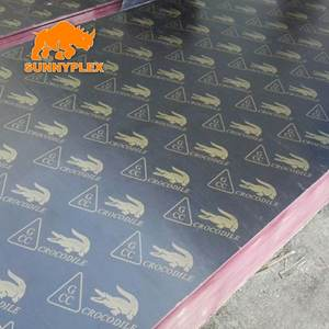 Chinese Film faced Marine plywood Crocodile Logo to Cambodia and Philippines
