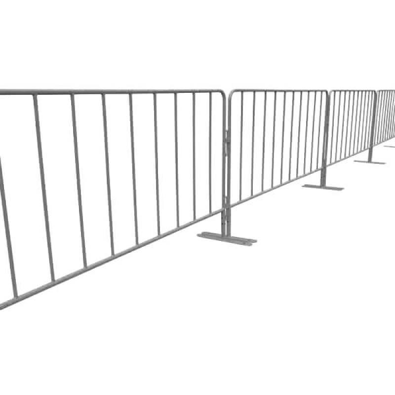Temporary road safety flat feet crowd control fence barrier