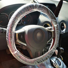 One time use plastic steering wheel disposable covers