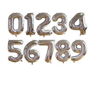 High quality custom color mylar metal number balloons 32 inches rose gold for Party Decoration