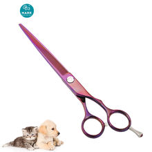Kelo OEM titanium coated scissors beauty dog animal grooming scissors