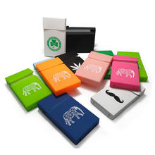 Portable Women Slim Smoking Cigarette Holder Pack Box Silicone Cigarette Case Cover