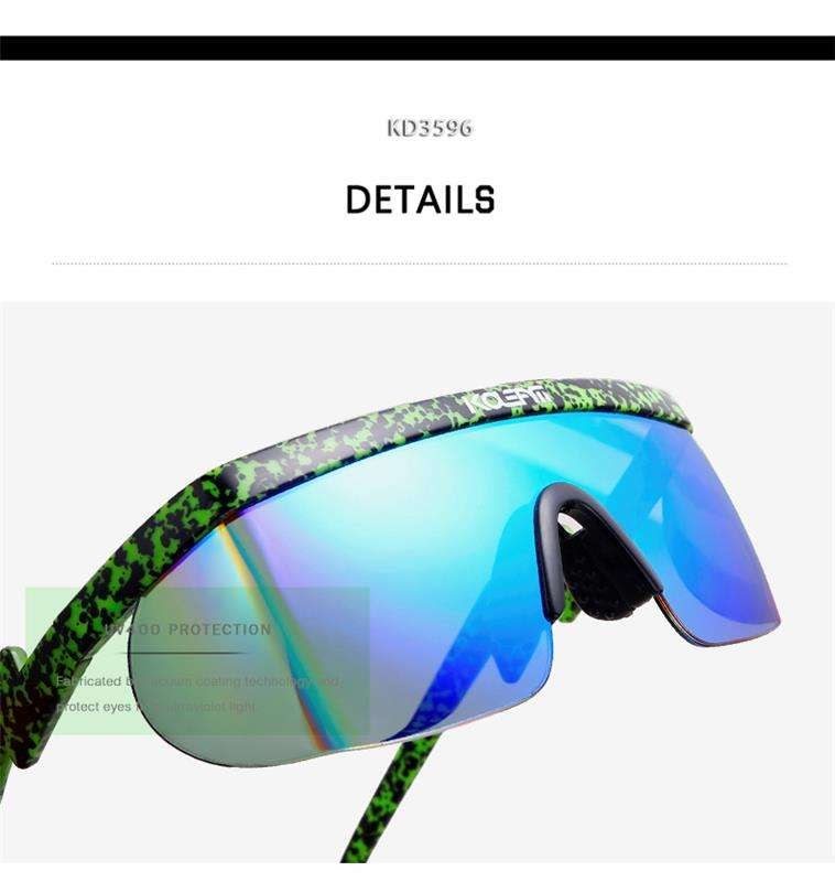 KDEAM 2020 European American big frame sunglasses uv-proof conjoined lens Sunglasses dazzle colour sungshades KD3596