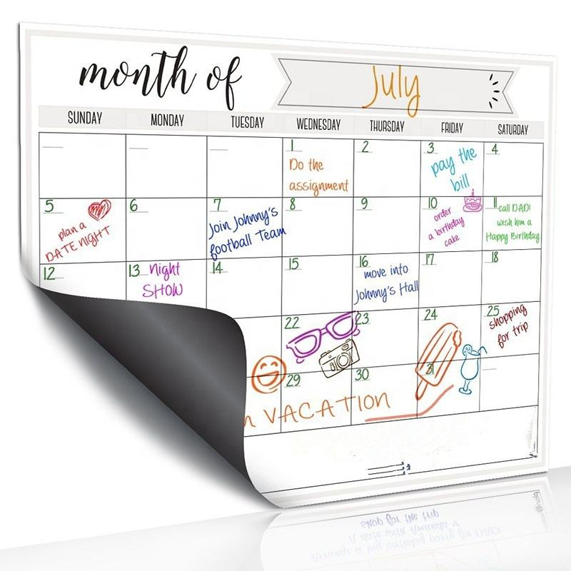 17 *13Inch High Quality Magnetic Monthly Weekly Planner Dry Erase Magnetic Calendar For Refrigerator