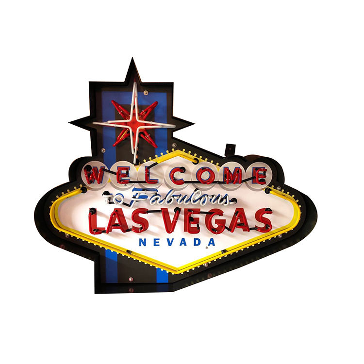 Oem neon sign retro metal can las vegas neon light sign vintage custom neon sign china suppliers