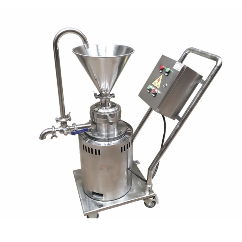 pineapple disperse and smash material commercial vertical colloid mill sesame paste making machine