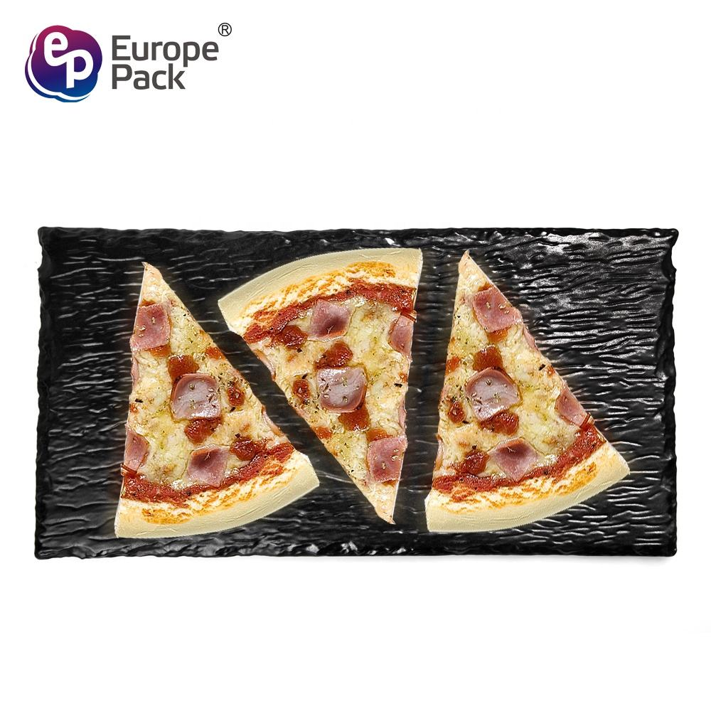 EPK new products 11 inch square dinner black slate stone plate