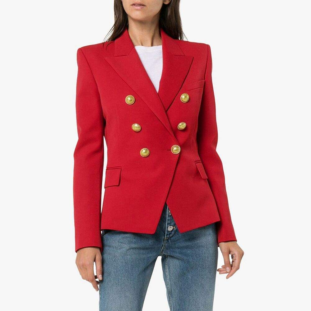 6 colors Double Breasted Womens Casual Slim Fit Suits Jacket Woman Blazer Office Lady Blazer