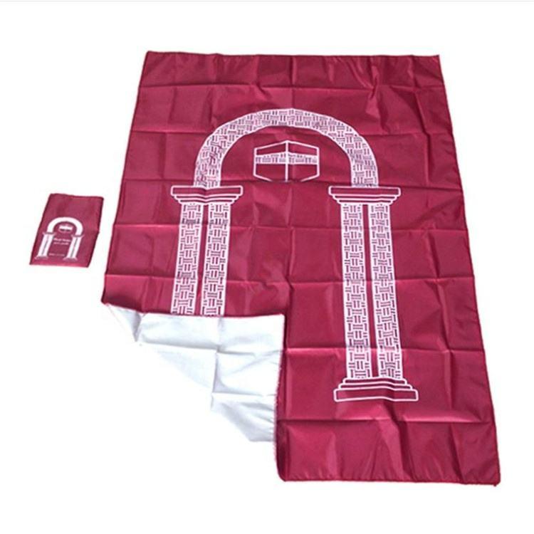 Pri/ère Portable Tapis Genoux Poly Mat avec Boussole pour Musulman Islam Pri/ère /Étanche Mat Tapis 100x60cm