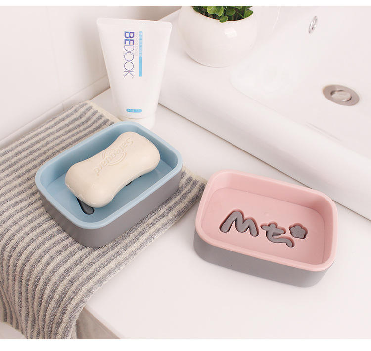 Wholesale hot-selling home hotel bathroom plastic soap box dish holder