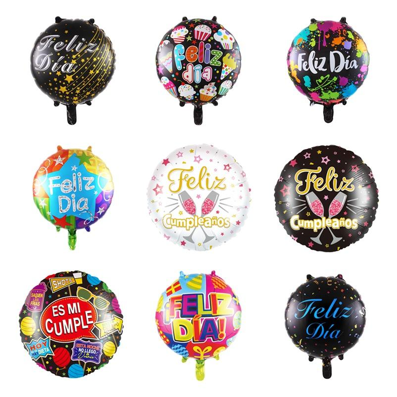 New 18 inch Spanish Happy Birthday Valentine's Day series aluminum balloon birthday wedding holiday party decorations balloon