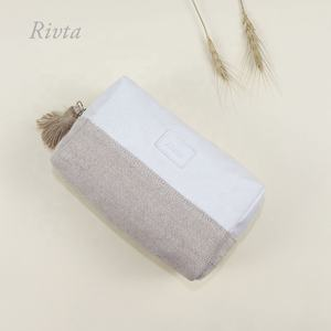 Professional Custom Private Label Women Travel Bamboo Jute Fiber Cosmetic Makeup Bag
