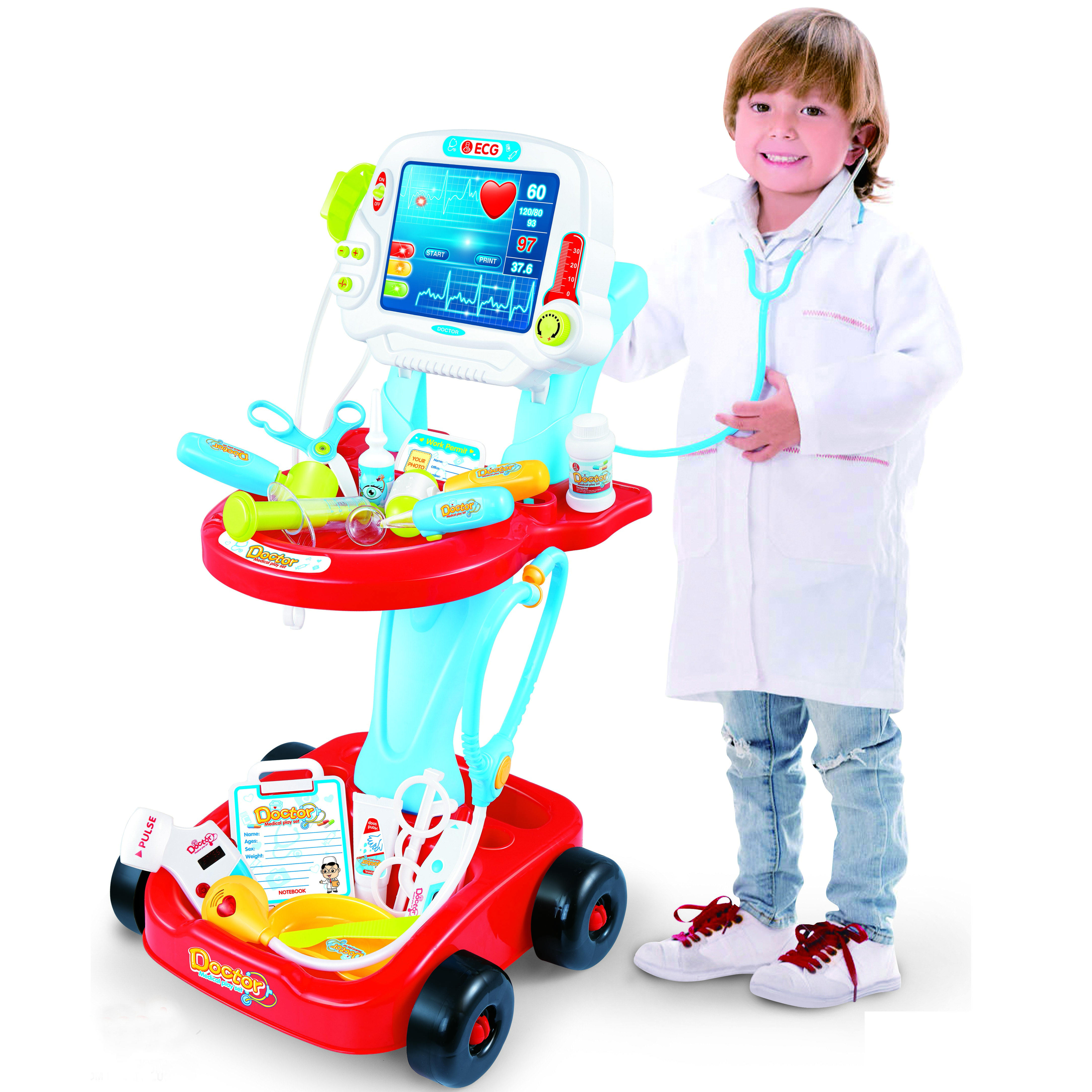 Children Electronic Plastic Musical Pretend Learning Toy Educational Doctor Toys Kit For Kids 2020