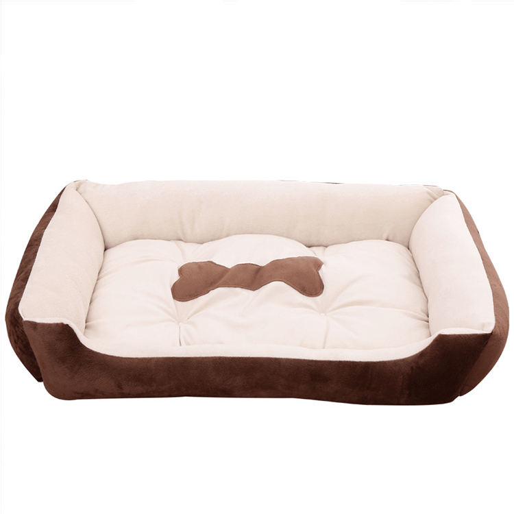Factory Pet Bed Accessories Warm Soft Comfortable Luxury Suede Pet Dog Bed