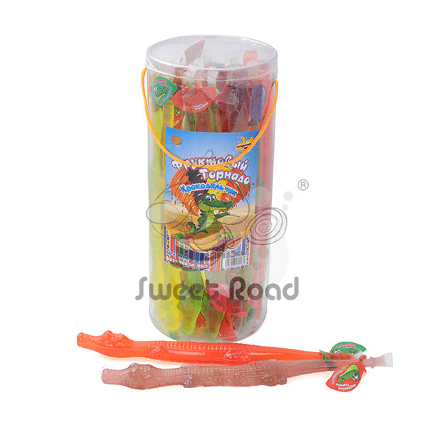Jelly Product Type Crocodile Shaped Fun Jelly Candy Confectionary