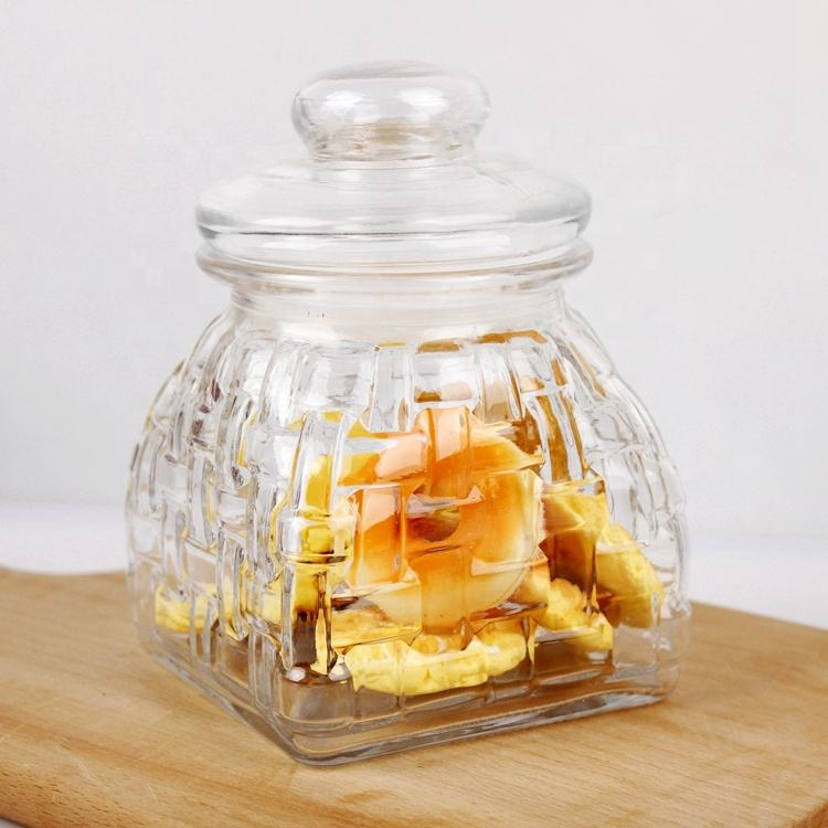 Gifts Wedding Party Favors Glass Food Packing Canister Airtight Glass Lid Storage Jar