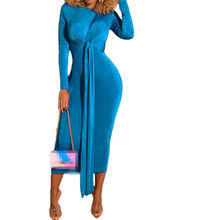 Wholesale Cloth 2019 Mature Women Sexy Long Sleeve Bodycon Bandage Dresses