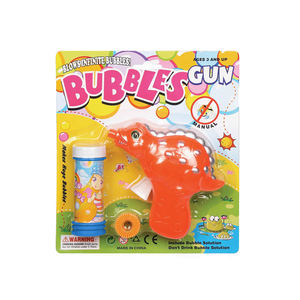 2020 sumer NEW dinosaur bubble gun with bubble water Good gift toys for kids