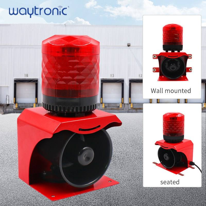 Waytronic Sf-513 sound and light alarm 220v voice fire horn 24V outdoor factory broadcast reminder 12V