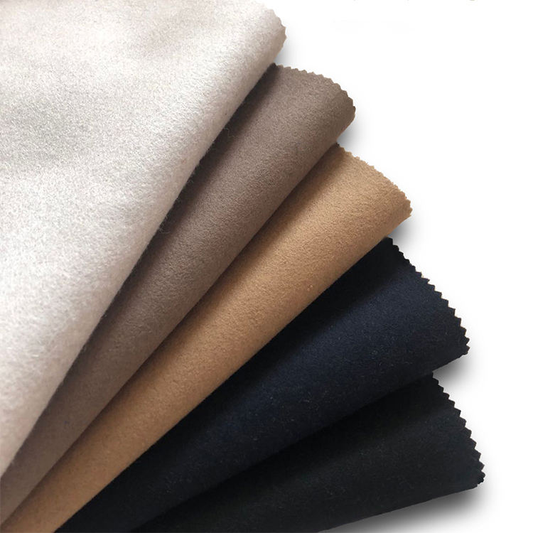 Hot selling black cashmere recycled woven woolen melton poly wool fabric