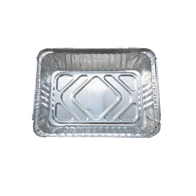 Ad China factory supply rectangle l take away aluminum foil container,microwave aluminum foil rectangular pan with lids
