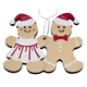 Wooden Gingerbread Couple Christmas Ornament Tree Decoration Gift with quote mr and mrs