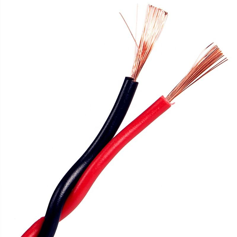 Twisted Pair Flexible Fire Alarm Wire Bare Copper PVC Insulated Stranded Overhead