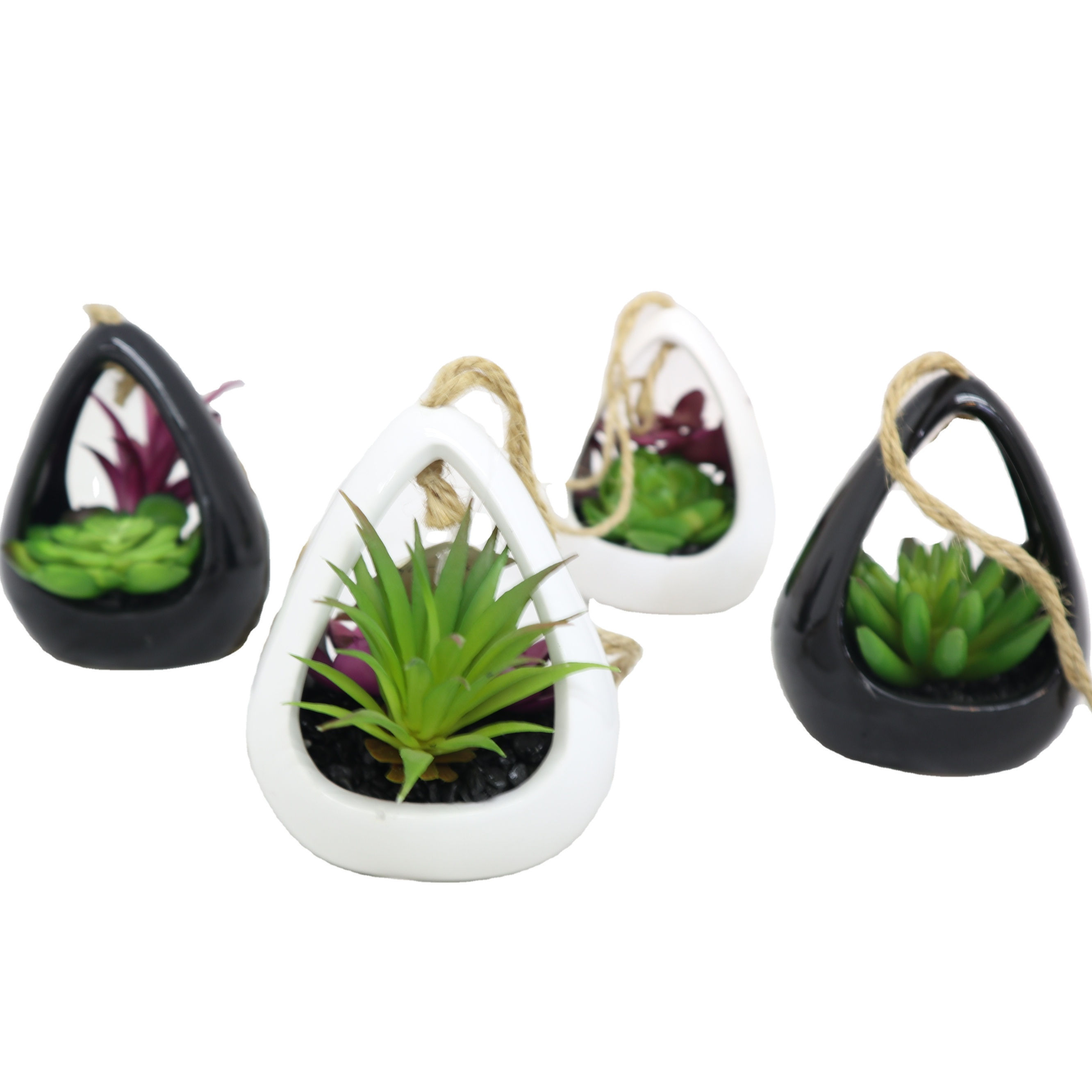 Various combination small hanging decoration home restaurant artificial plants Potted Succulents