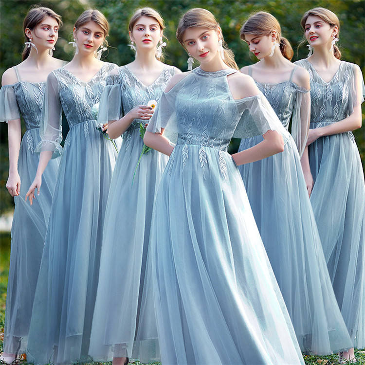 LF-9 Women Evening Dresses Long Plus Size Maxi Long Formal Bridesmaid Dresses Multi Wear Women Lady Elegant Party