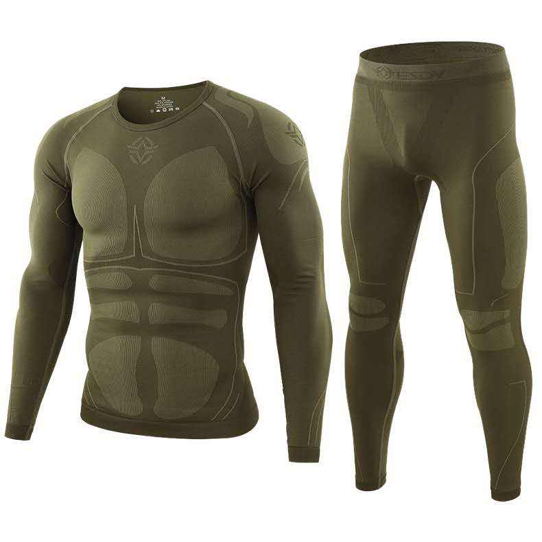 ESDY Outdoor Training Thermal Underwear Sports Fitness Clothes Functional Warm Inner Wear for Men