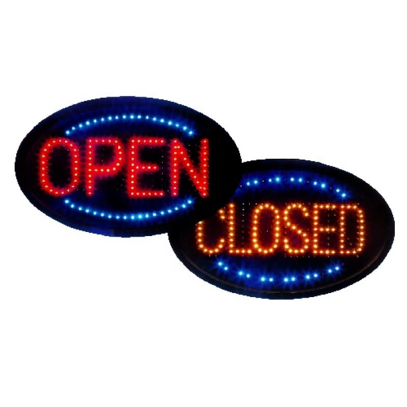 led advertising business signs LED open closed double sign with pvc working hours led letter open signs factory