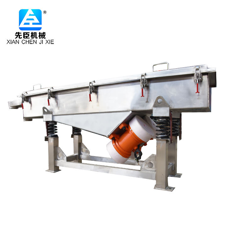 Linear Vibrating Screen Supplier XC Factory Direct Sales Linear Vibrating Screen For Wood Chip Carbon/Stainless Steel Linear Vibration Screen