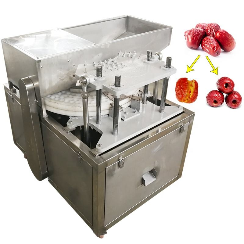 Hot Sale Plum Kernel Stone Extracting Extractor Seed Cores Removing Machine Nuclear Deseeding Dates Pitter Pitting Machine