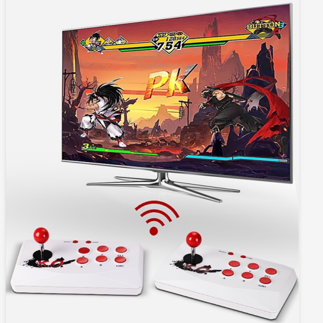 TV Gaming Console for 2players TV Classic Game Player Built in 2000 Games FC Arcade game player