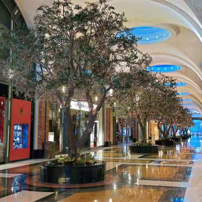 landscape decoration Large Artificial Olive Tree plant / Mall exhibition Ornamental Olive Artificial Tree decoration